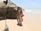 Aline Dias e Barbara França, de 'Malhação', se preparam para o verão