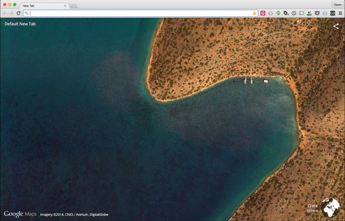 Extensão do Google traz fotos do Earth para o Chrome (foto: Reprodução/The Next Web)