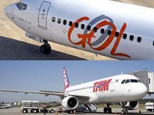 TAM e Gol são acionadas pelo Ministério da Justiça por venda casada de passagem e seguro (Foto: Montagem com fotos de TAM e Gol)