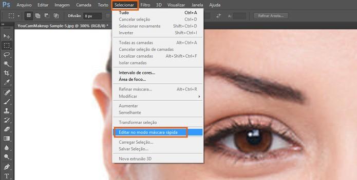 Inicie a criação de uma máscara no Photoshop (Foto: Reprodução/Barbara Mannara) (Foto: Inicie a criação de uma máscara no Photoshop (Foto: Reprodução/Barbara Mannara))