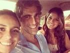 Gianecchini posa com Marquezine e Antonelli em gravação: 'Eu com elas'