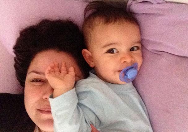 Odara Gallo e o filho, Franco, quando ainda não havia sido diagnosticado com autismo (Foto: Arquivo pessoal)