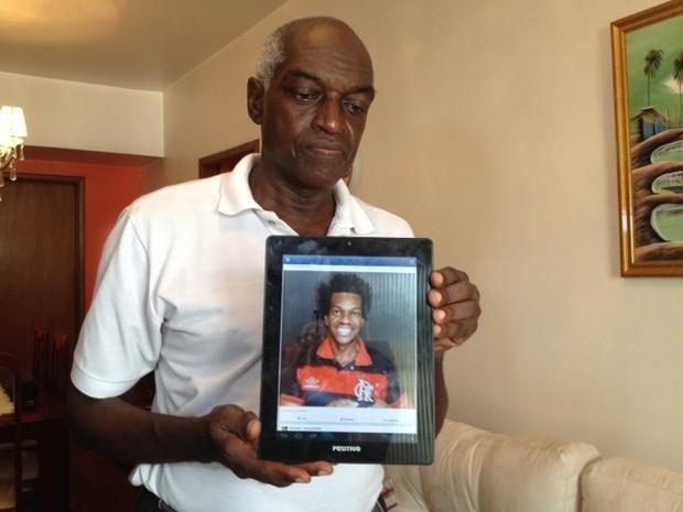 Jair Romão de Souza, pai de Vinicius (Foto: Mariucha Machado/ G1)