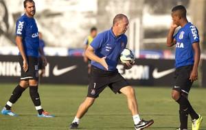 Mano Menezes treino Corinthians (Foto: Daniel Augusto JR / Agência Corinthians)