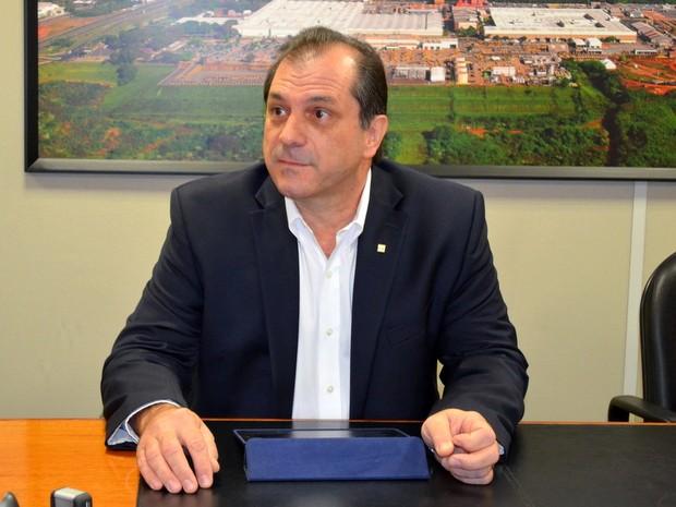 Odair Renosto é presidente da unidade da Caterpillar Brasil em Piracicaba (Foto: Claudia Assencio/ G1)