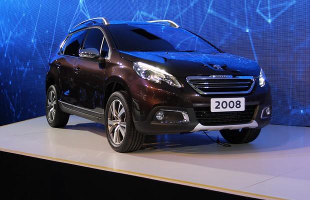 Peugeot 2008 no Salão do Automóvel 2014 (Foto: Gustavo Maffei/Autoesporte)
