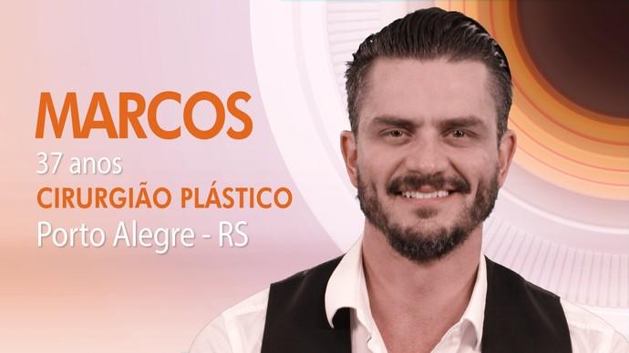 Marcos tem 37 anos e é médico cirurgião plástico (Foto: TV Globo)