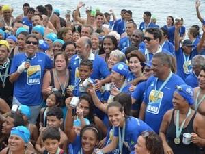 Beneficiados do projeto participaram da comemoração do último ano (Foto: Divulgação / Ascom Rio das Ostras)