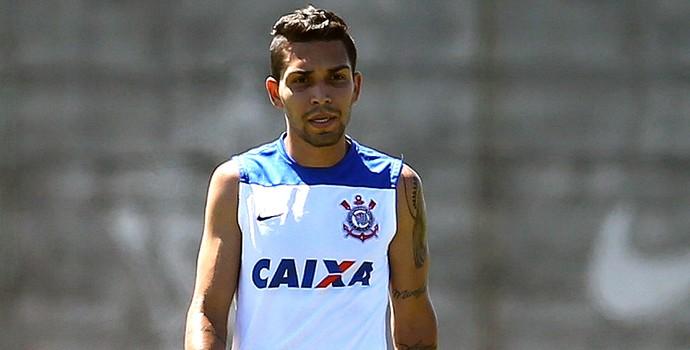 Petro no treino do Corinthians (Foto: Mauro Horita / Agência Estado)