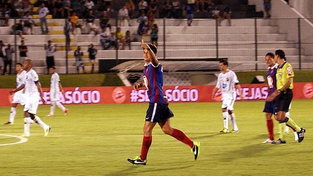 Fahel marcou o gol do Bahia contra o ABC, pela Copa do Nordeste (Foto: Augusto Gomes)