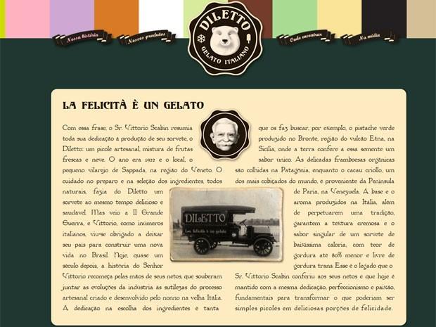 Diletto criou personagem fictício para contar história da marca de sorvete  (Foto: Reprodução)