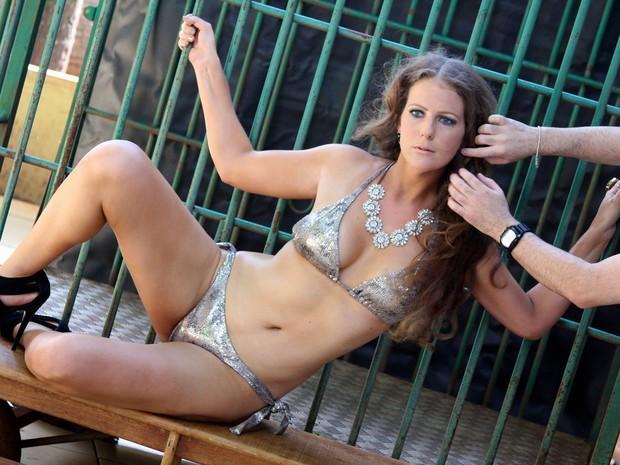 Fotos de Ana Paula vão ser publicadas em uma revista masculina (Foto: Luane Pariz/Arquivo Pessoal)