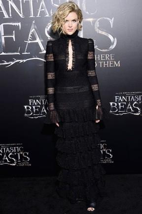 Erin Richards em première de filme em Londres, na Inglaterra (Foto: Jamie McCarthy/ Getty Images/ AFP)