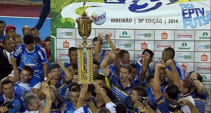 Serrana é hexacampeão da Taça EPTV de futsal (Foto: Reprodução/EPTV)