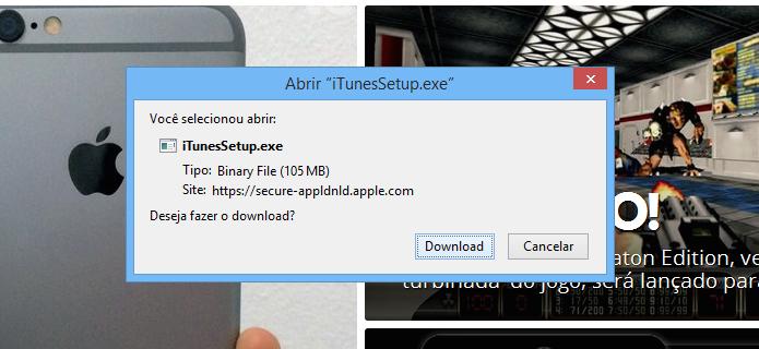 Inicie o download usando o Firefox (Foto: Reprodução/Helito Bijora)