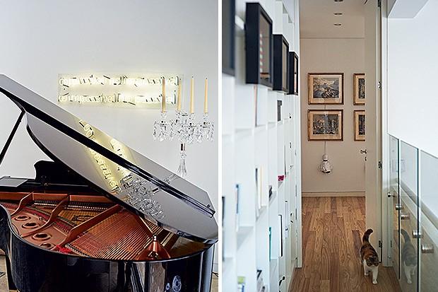 Música | Piano Disklavier, da Yamaha, que pode usar arquivos digitais para tocar sozinho, além de obra de Regina Parra, adquirida no projeto Simbiose na Arte  (Foto: Victor Affaro e Carlos Andres Varela)
