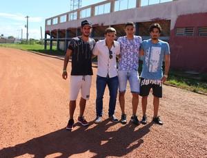 Reforços do Guajará, da esquerda para direita: Lucas Real, Gean, Erik e Iury (Foto: Júnior Freitas/GloboEsporte.com)