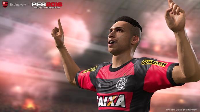 Flamengo em PES 2016 (Foto: Divulgação)
