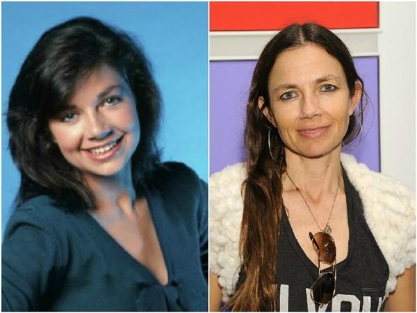 Justine Bateman em 1983 e 2013 (Foto: Divulgação/Getty Images)