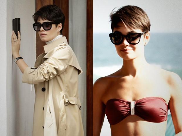 Duda prefere os óculos pretos, mas em formatos variados (Foto: O Rebu / TV Globo)