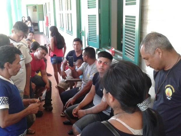Após acordo com a prefeitura indígenas desocupam prédio da prefeitura (Foto: Ediclei Munduruku/Arquivo Pessoal)