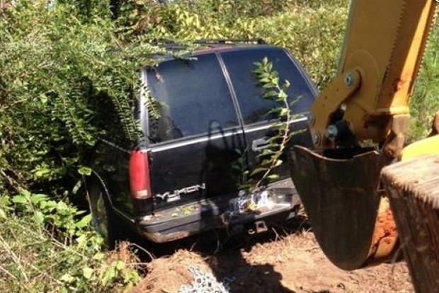 Americano chamou a polícia após encontrar caminhonete roubada por acidente, usando imagens de satétlite do Google Earth (Foto: Divulgação/George County Sheriff's Office.)