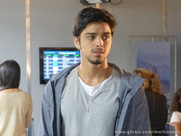 Olha a cara de tristeza do Bruno... (Foto: Malhação/ TV Globo)