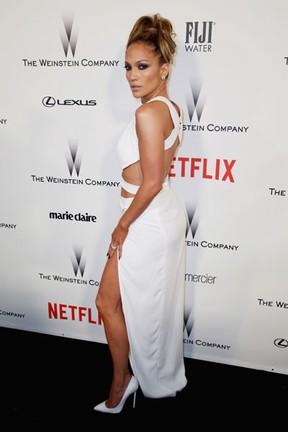 Jennifer Lopez em festa em Los Angeles, nos Estados Unidos (Foto: AFP)