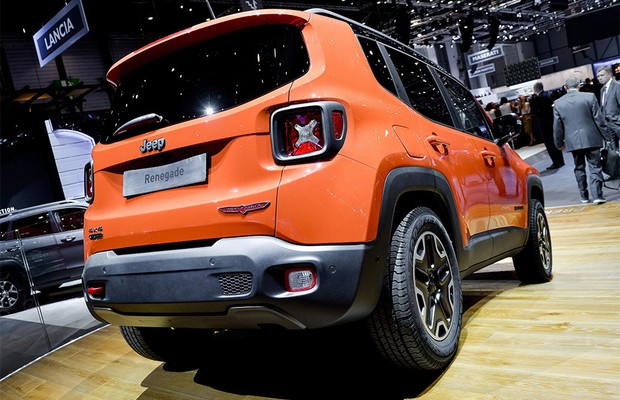 Jeep Renegade no Salão de Genebra (Foto: Newspress)