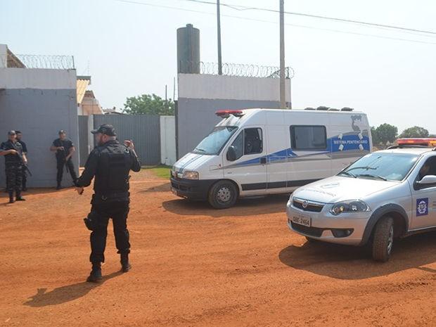 Presos da cadeia pública de Vera foram transferidos no final de semana (Foto: Assessoria/Sejudh-MT)