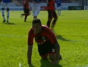 Renan Donizete, Flamengo x Santo André (Foto: Reprodução/ SporTV)