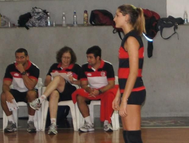 Sasha Meneghel jogadora de vôlei Flamengo (Foto: Flávio Dilascio)