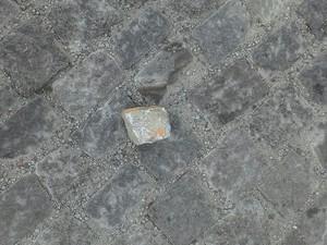 Homem usou pedra de paralelepípido para matar cachorro (Foto: Hugo Junior / Arquivo Pessoal)