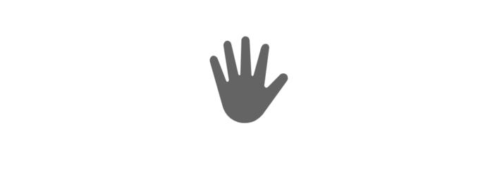Emoji de mão aberta em sinal de pare do Windows 10 (Foto: Reprodução/Emojipedia)