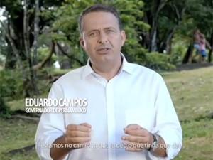 O presidente do PSB, governador Eduardo Campos (PE), em propaganda do PSB (Foto: Reprodução/PSB)