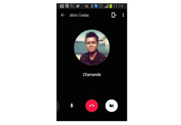 Chamada de voz do Google Hangouts para Android (Foto: Reprodução/Marvin Costa)