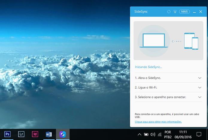 Abra o SideSync no PC (Foto: Reprodução/Filipe Garrett)