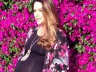 Fernanda Machado mostra barrigão e comemora gravidez: 'É mágico'