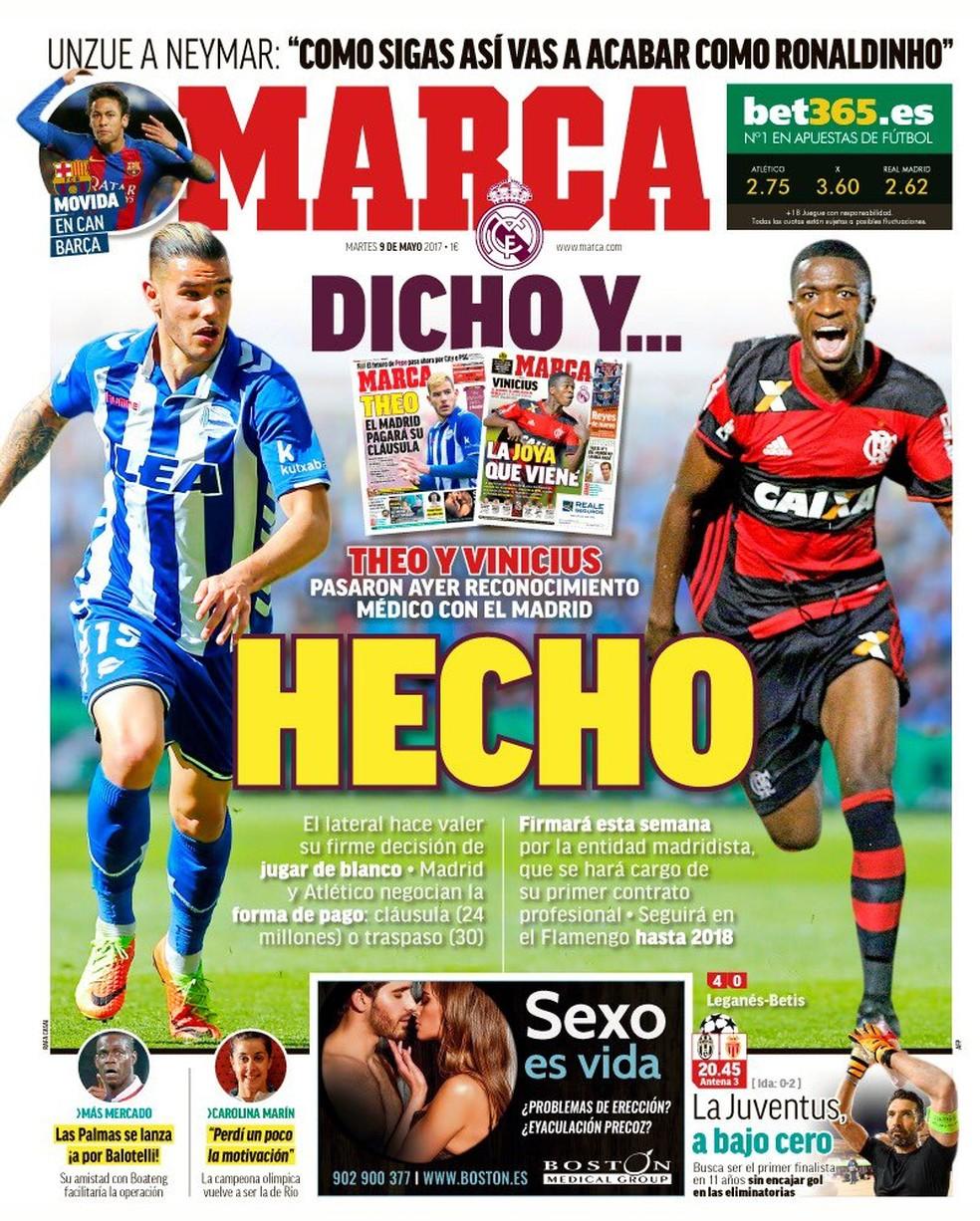 Marca Theo Vinícius Junior (Foto: Reprodução/Internet)