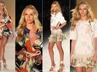 Top sul-africana Candice Swanepoel desfila para a Forum e encerra quarta noite do SPFW