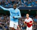 Yaya Touré marca três, Manchester City goleia e ultrapassa o Arsenal