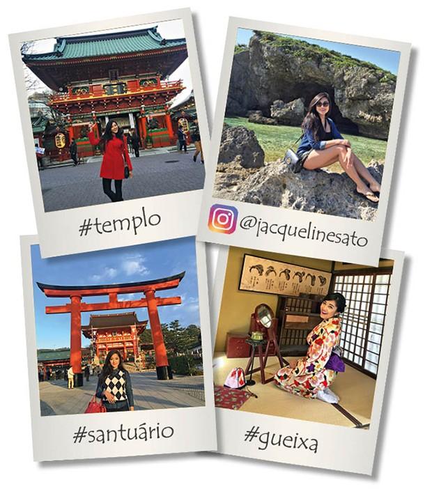 Jacqueline Sato mostra o álbum de família de sua viagem dos sonhos ao Japão (Foto: Reprodução/Instagram )