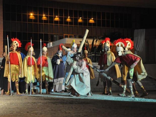 Encenação da Paixão de Cristo acontece na próxima sexta-feira (Foto: Divulgação/Cia Art'Sacra)