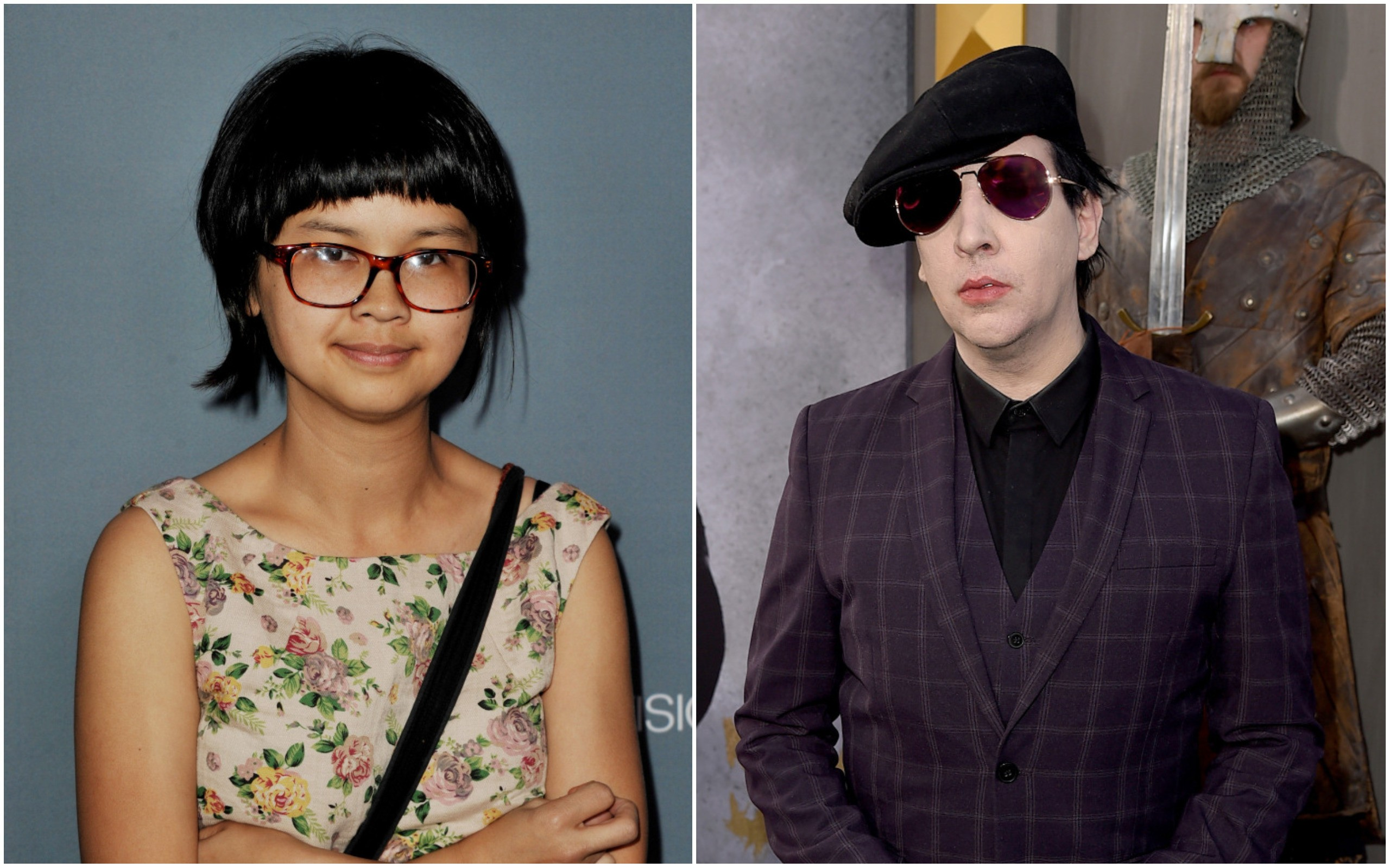 Charlyne Yi e Marilyn Manson (Foto: Getty Images)