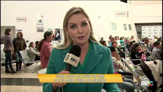 Estado de saúde de bebê internado sob suspeita de agressão piora em Ponta Grossa