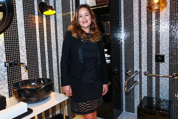 Jade Jagger inaugura banheiro público chique (Foto: Manuela Scarpa/Photo Rio News)