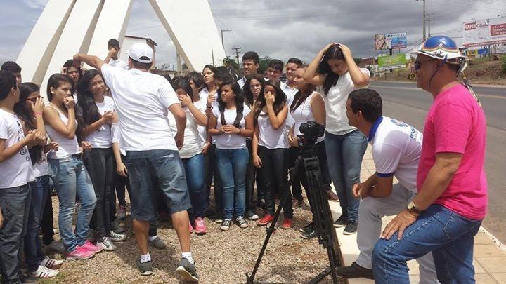 Equipe dá início às gravações do 'Boas Festas' (Foto: Arquivo Pessoal/ Luciano Peixinho)