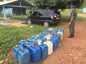 Material foi apreendido na manhã desta quarta-feira (22) (Foto: Divulgação/Exército)