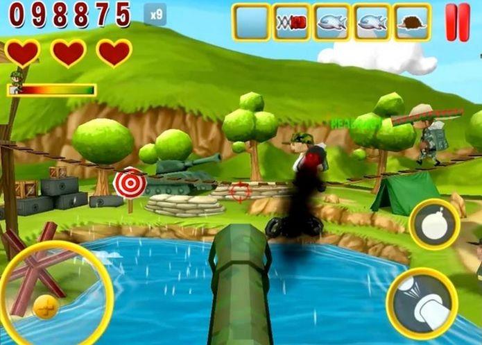 Tela de gameplay do jogo Dodge This (Foto: Divulgação)