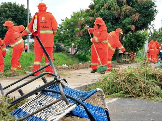 Serviços são realizados na Zona Norte de Manaus (Foto: Divulgação/Semulsp)